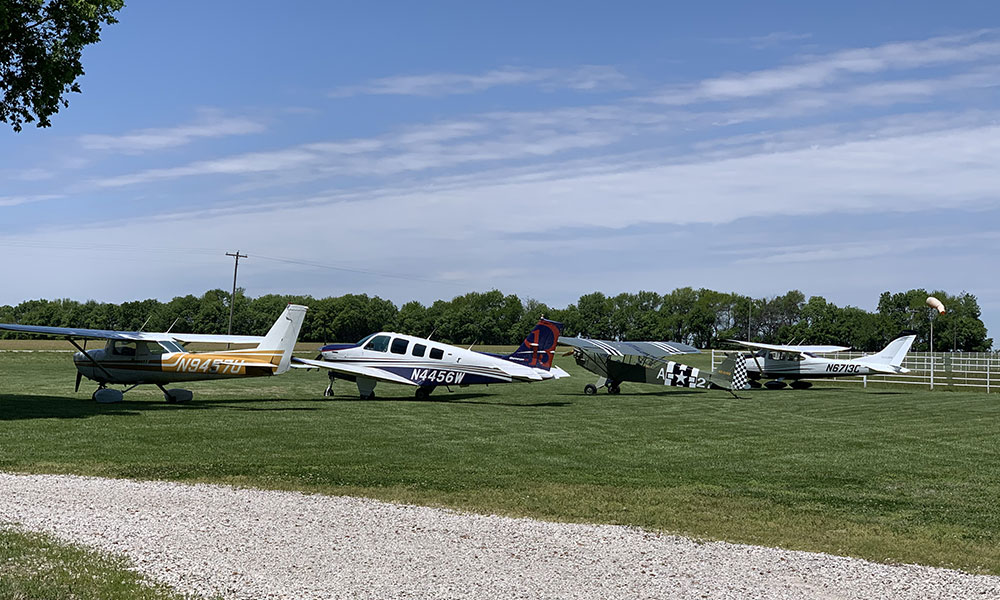 Fly-in at the farm