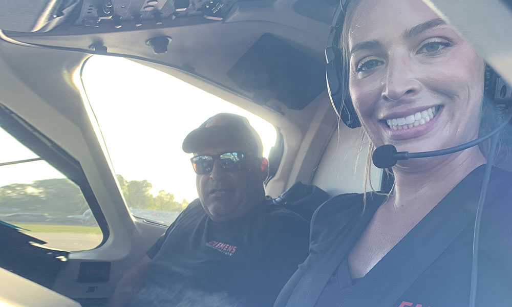 Dwayne & Lizzie Clemens in Clemens Aviation Beechjet